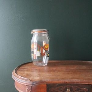vtg 60s chic french large canning jar